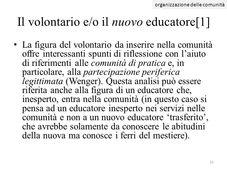 Il volontario e/o il nuovo educatore[1]
